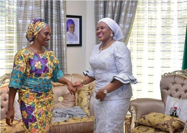 Aisha Buhari and Dolapo Osinbajo