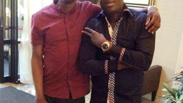 Adewale Ayuba and his son