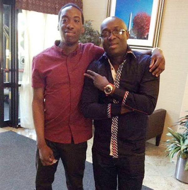 Adewale Ayuba and his son