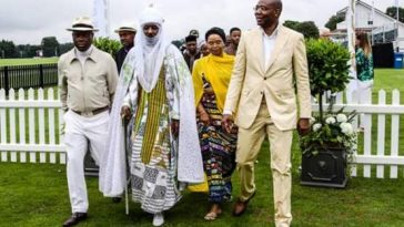 Emir Of Kano, Wife, Children, Aliko Dangote Attend Polo Event In London