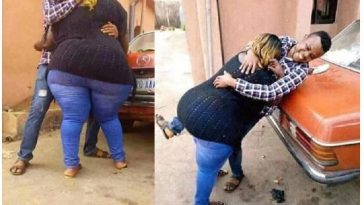 Man shares pictures of his girlfriend's massive bumbum