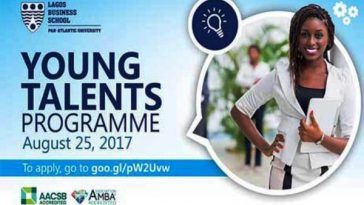 Lagos Business School Young Talents Programme 2017