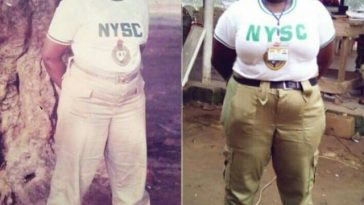 Nigerian Lady Recreates Her Mum's NYSC Photo