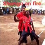 Sango Worshiper Gets Burnt While 'Breathing' Fire