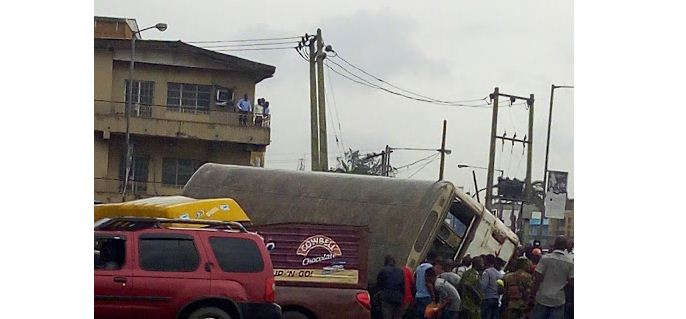 Tragedy Averted In Ikeja-Lagos This Morning