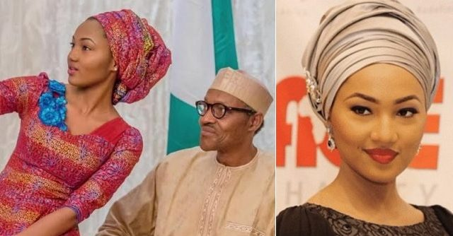 Image result for images of Muhammadu Buhari with Zahra Buhari-Indimi