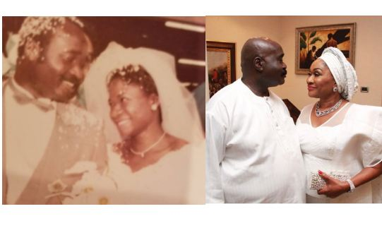 throwback photo of ex-Edo governor, Lucky Igbinedion and wife, Eki,