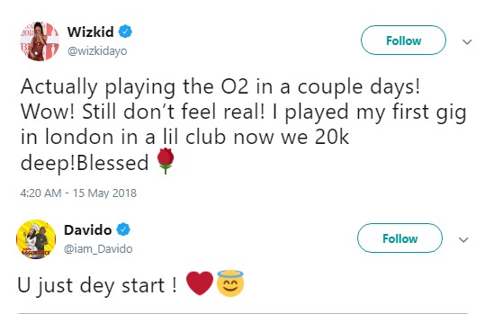 Beef Over as Davido Publicly Celebrates Wizkid's Latest Achievement