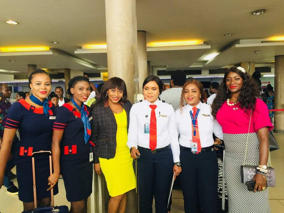 Air Peace All-female Flight Gets Rousing Ovation In Lagos. Photos – How  Nigeria News