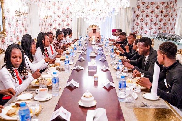 President Buhari Hosts Xplicit Dance Crew